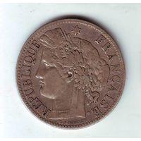 Франция. 2 франка 1873 г.