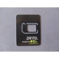 Карточка от симки. Zantel. Занзибар. (Танзания)