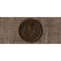 Канада 1/2 пол 0,5 пенни 1832 /провинция Новая Скотия/ШОТЛАНДИЯ/фауна/(О Х)