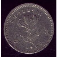 6 пенсов 1964 год Родезия
