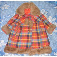 Пальто зимнее для девочки 2-3г