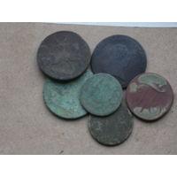 Монеты разные две кучки лот w 54