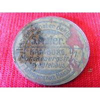 Рекламный жетон?визитка? стеклянный. до 1917 г.германия