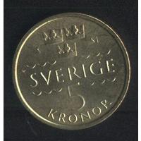 Швеция 5 крон 2016 г. Сохран!!!