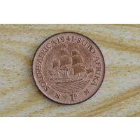 Южная Африка 1 пенни 1941 с 5 руб Георг VI