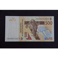 Мали 500 франков 2016