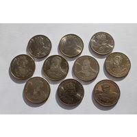 Польские короли - 10 монет, номиналом 50, 100, 500 злотых (1979 г.-1989 г.)