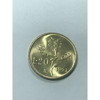 20 лир, 1993 г., Италия