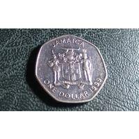 1 доллар 1999. Ямайка.