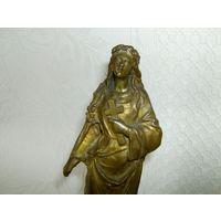 Старенькая и красивейшая статуэтка, фигурка. Латунь.