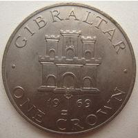 Гибралтар 1 крона 1969 г.