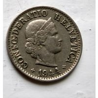 Швейцария 5 раппен, 1944 3-5-30