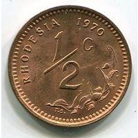 (B3) РОДЕЗИЯ - 1/2 ЦЕНТА 1970 UNC