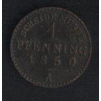Германия Пруссия 1 пфенниг 1850 г. (*). Состояние на фото!!!