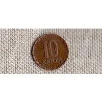 Литва 10 центов 1991(Li)
