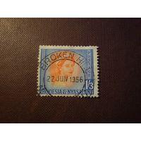 Родезия и Ньясаленд 1954 г.Королева Елизавета II.Номинал больше 1 шиллинга.