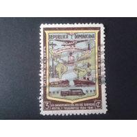 Доминиканская р-ка 1942 день почты, транспорт