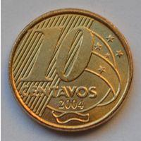 Бразилия 10 сентаво, 2004 г.