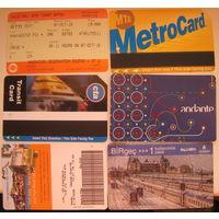 Карточки на проезд стран мира. Цена за 1 шт.