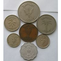 Израиль, Лот из 7 разных монет 10, 10, 25,50,100 и 250 Прута  (118)