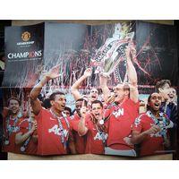 """Постер-буклет. 19-е чемпионство. Футбольный клуб """"Манчестер Юнайтед"""". 2012 г."""