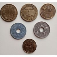 Франция. 6 монет.