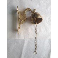 Звонок колокол на двери размер колокола 10 см  подставка 20 см