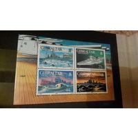 Корабли, военно-морской флот, транспорт, техника, марки, Гибралтар, 1994 блок