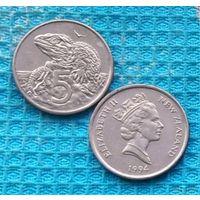 Новая Зеландия 5 центов 1994 года. Елизавета II. (2)