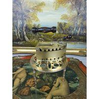 Старинный угольный утюг утюжок латунь бронза  Раритет В коллекцию АРТ 02-154