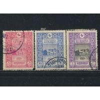 Турция Османская Имп 1916 50 летие почты в Константинополе Старое здание почты в Стамбуле #354C-356C