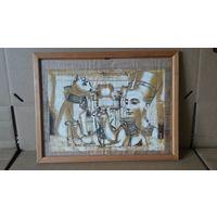 Рамка интерьерная. Рисунок на рисовой бумаге Египет