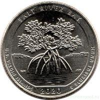 25 центов США 2020 г.  53 й Национальный исторический парк и экологический заповедник Бухта Солёной реки D