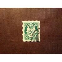 Норвегия 1921 г.Почтовый рожок .