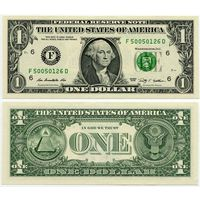 США. 1 доллар (образца 2009 года, F, Джорджия, P530, UNC)