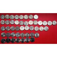 США 45 монеток без повторов. Список в описании.
