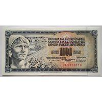 Югославия 1000 динар 1981 (P92c) UNC