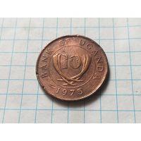 Уганда 10 центов, 1975