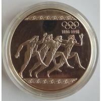 Греция 1000 драхм 1996 года. Бег. Серебро. Оригинальная капсула. ПРУФ!