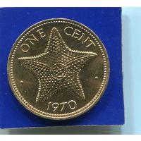 Багамские острова , Багамы 1 цент 1970 , бронза , UNC
