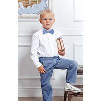Белоснежная рубашка для мальчика.Как новая