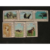 Мавритания 1978 Всемирная организация защиты природы Исчезающие животные