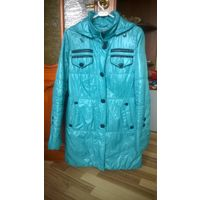 Бирюзовая удлиненная куртка