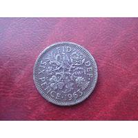 6 пенов 1963 год Великобритания
