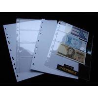 SCHULZ-лист OPTIMA для 4 банкнот+лист перекладочный.