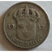 Швеция 25 эре 1917 серебро