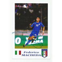 Federico Macheda(Италия). Живой автограф на фотографии.