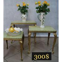 Комплект Цветочных Столиков 3 в 1 Италия.