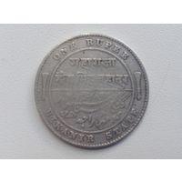 1 рупий Индия штат Биканер 1897г