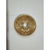 Британская Новая Гвинея (Георг VI) 1 шиллинг 1945 г.  серебро AU/UNC